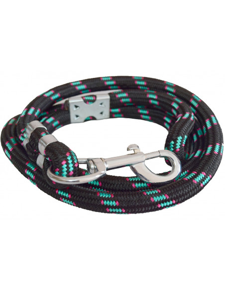 Pawzone Blue and black Dog Rope Leash for Big Dogs