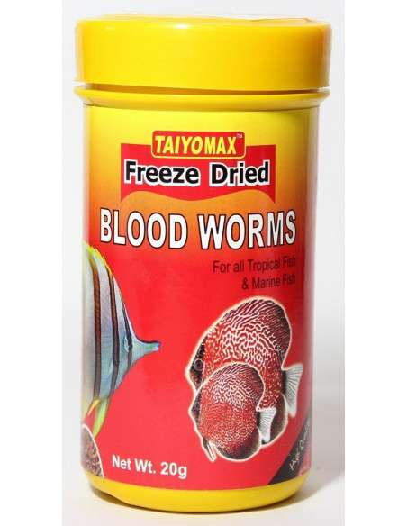 Taiyomax Freeze Dried Blood Worms 20g