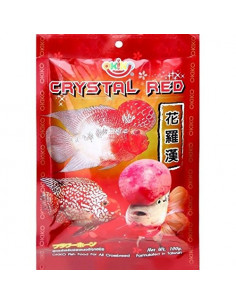 OKIKO Crystal Red | 100g | Aquarium Fish Food | Flower Horn
