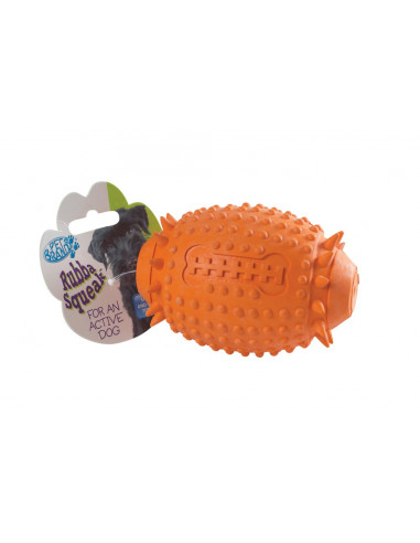 Pet Brands Rubba Squeaka Rugby Ball for Dog , 11 cm