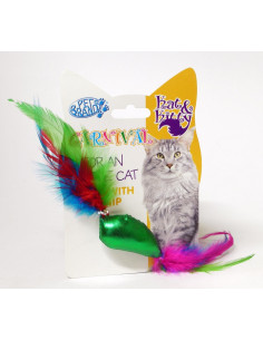 Carnival Cat Fish & Feather Toy