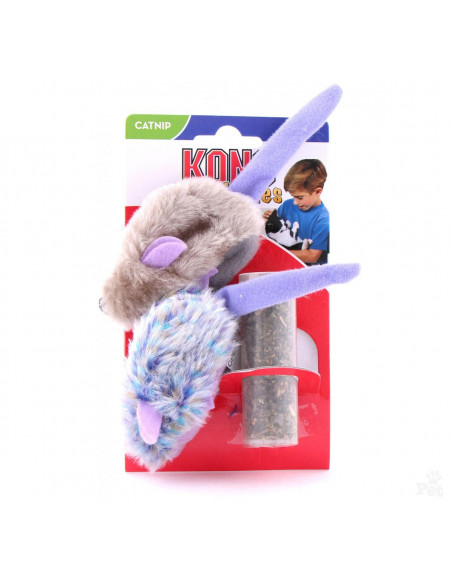 Kong Purple Mouse and Frosty Grey Mouse Cat Toy