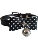 Pawzone Black  Stylish Cat Collar with Bell