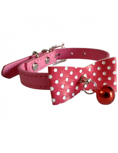 Pawzone Pink  Stylish Cat Collar with Bell