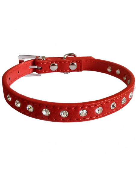 Pawzone Shiny Red Cat Collar