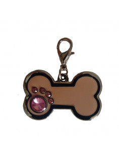 Pawzone Pink Bone Shape Pendant For Dog & Cat