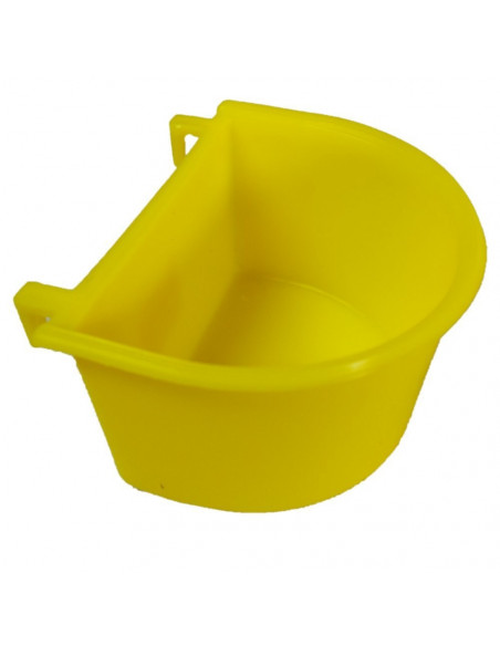 Pawzone Yellow Plastic Bird Feeding Bowl