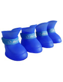 Pawzone Blue Plastic injection Pet shoes Small