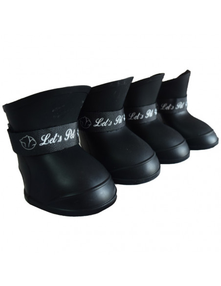 Pawzone Black Plastic injection Pet shoes Small