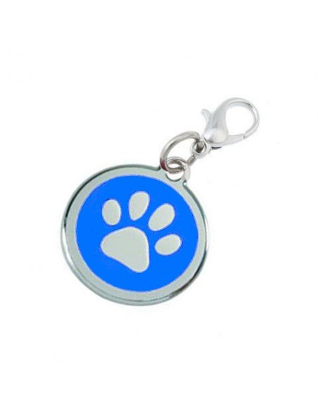 Pawzone Trendy Blue Paw Pendant For Dog & Cat
