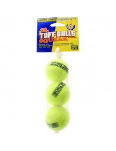 Petsport Tuff Balls Squeak Mesh  Medium 3pk