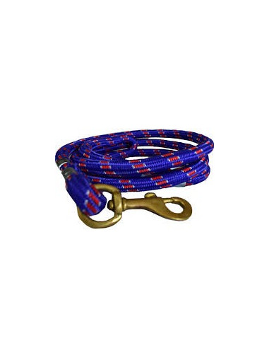 Pawzone Good Quality Blue and Red Rope Leash (Brass Hook)