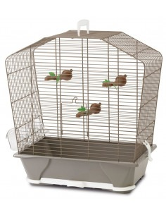 Camille 30 Bird Cage, Warm Grey, 45x25x48 cm