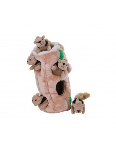 Hide-A-Squirrel Jr. Puzzle Plush Game for Dogs
