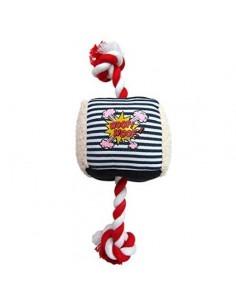 Denim Cube Rope Chew Toy 22 cm