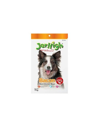 Jerhigh Bacon Dog Treats(Pack of 3), 70Gms