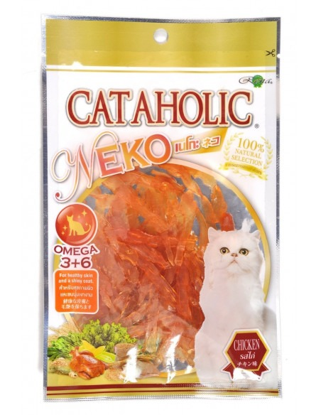 Cataholic Neko Chicken Jerky Sliced Cat Treat, 30 g