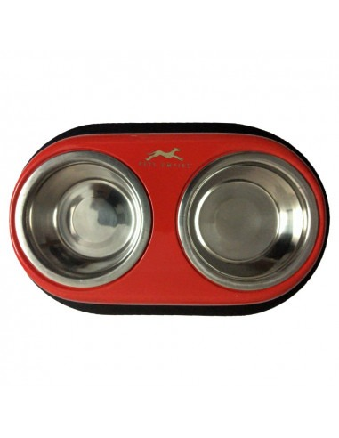 Pawzone Anti skid Double Diner Bowl