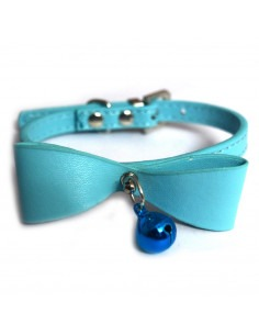 Pawzone Adjustable Pet Kitten Collar & Bow Bell Buckle Neck Strap