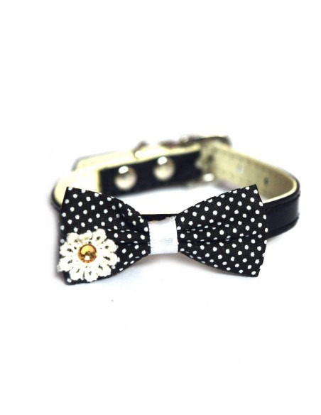 Pawzone Polka Dots Bow Cat Necklace