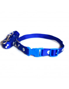 Pawzone Adjustable Dog Collar With Leash Set -1.5 inch