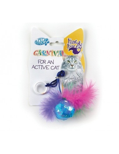 Pet Brands Carnival Cat Ball and Feather