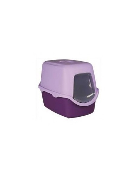 Trixie Vico Cat  Litter Tray With Dome(Purple/Lilac)