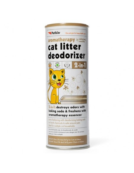 Petkin Cat Litter Deodorizer, 576 g (Vanilla)