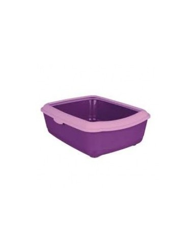 Trixie Classic Cat litter tray with rim(purple/Lilac)