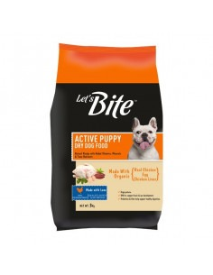 Lets Bite Active Puppy Real Chicken & Egg Flavor, 3 Kg