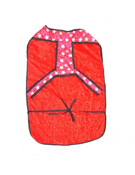 Pawzone Red Twinkle Stars Winter Sweater For Big Dogs