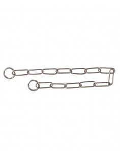 Trixie Stainless Steel Long Link Choke chain, 26.5 inch/4.0 mm