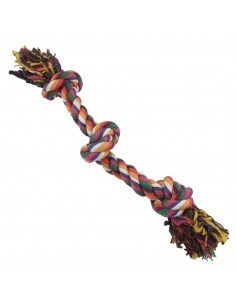 PetBrands Large Multi Colour Three Knot Tug Rope Toy