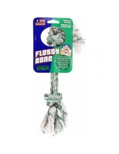 Petsport Medium Flossy Bone Rope Toy, 15cm