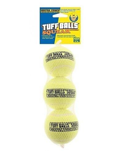 Petsport Tuff Balls Squeak 3 pk Mesh  Medium