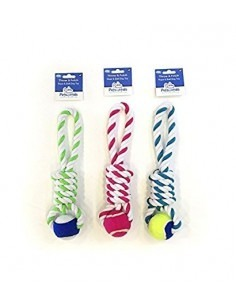 Petbrands Petsentials Tennis Ball Tug Dog Toy Assorted Colours