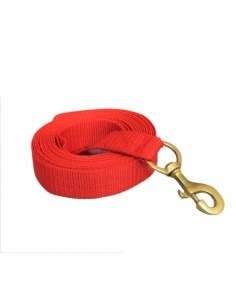 Pawzone Red Training leash with brass hook