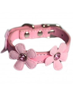 Pawzone Pink Adjustable Flower Cat Collars