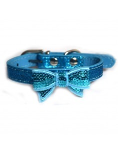 Pawzone Blue Stylish Adjustable Flower Cat Collars