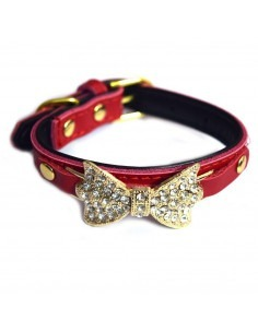 Pawzone Red Adjustable Pendant Cat Collars