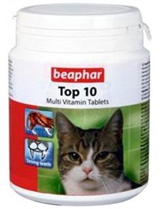Beaphar Top 10 Cat Multivitamin Tablets, Pack 1