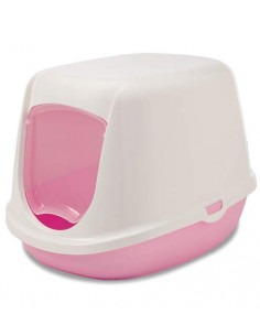 Savic Duchesse Cat Toilet Home, Baby Pink, 18x14x13 inch