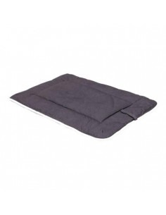 """DGS Crate Pad with Sherpa Top 21""""x30"""" Pebble Grey M"""