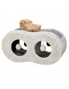 Trixie Liana Cuddly Cave Scratcher, Light Grey