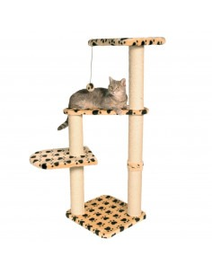 Trixie Atlea Scratching Post, Beige with paw prints