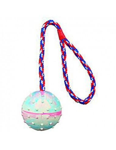 Trixie Ball on a Rope Natural Rubber
