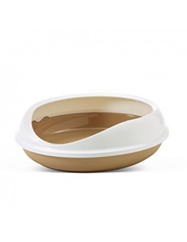 Savic Figaro Oval Litter Tray + Rim, Retro Brown, 22 inch