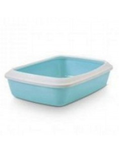 Savic Iriz Cat Litter Tray + Rim, Retro Blue, 20 inch