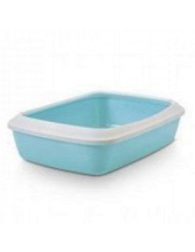 Savic Iriz Cat Litter Tray + Rim, Retro Blue, 20 inch