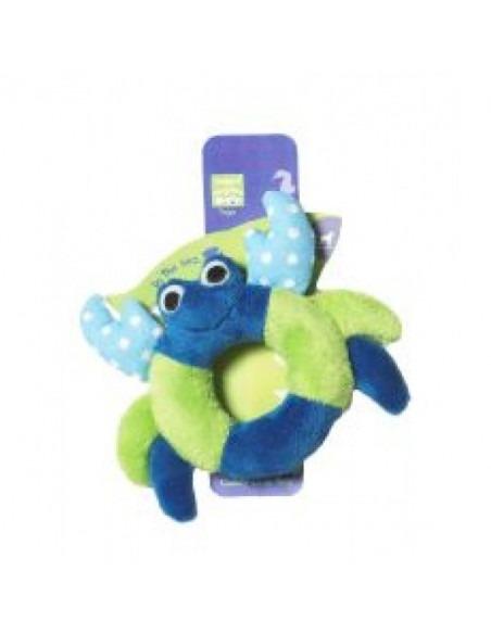 Pet Brands Cuddly Crab Ring Plush Toy, 14cm